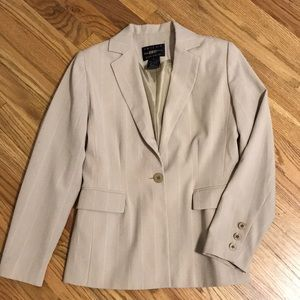 B.MOSS Petite Stretch Pinstriped Blazer